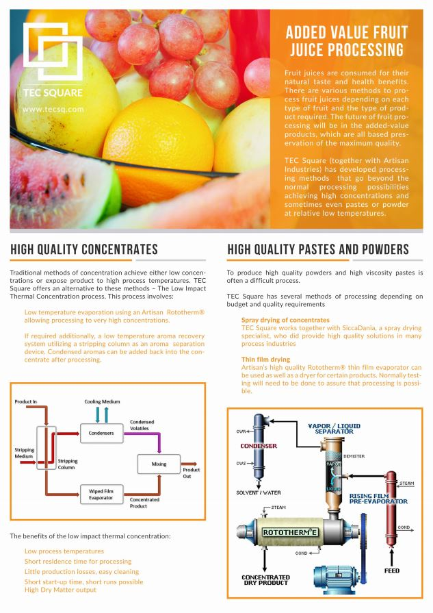 Brochure - Fruit Juice Concentration